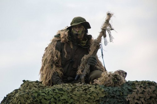 sniper military showcase camouflage