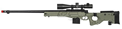 Well L96 AWP Compact Bolt Action Spring Powered Sniper Rifle Airsoft Gun