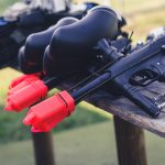 A row of the Best Paintball Guns