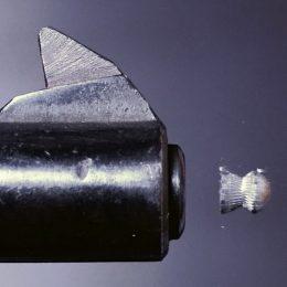 A pellet being shot out of the best pellet gun