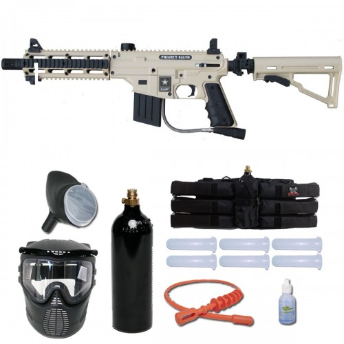 Tippmann US Army Project Salvo Paintball Gun Player Package